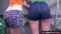 Hairy lesbian tradies peeing and oral sex preview image