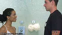 NuruMassage Smokin' Hot Kira Noir Gives Him The...