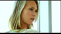 Passion-HD - Hot blonde teen Dakota James sits ... Thumbnail