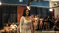 busty ashley cum in real gangbang preview image