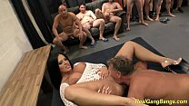 busty ashley cum in real gangbang image