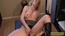 Hot Blonde Milf Squirt With A Huge Dildo