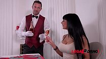 Hubby shares hot busty wife Valentina Ricci with waiter on Valentine's Day GP491's Thumb