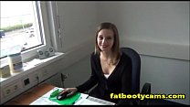 Fucking Austrian Coworker in Office - fatbootycams.com preview image