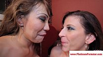 Ava Devine and Sara Jay cum swapping Thumbnail