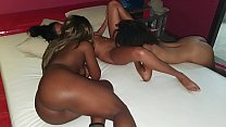 Real girl on girl action with 3 sexy teen girls and Jr Doidera going insid in the end