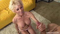 Topless Granny Splattered WIth Cum thumbnail