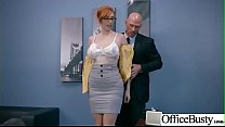 Sex In Office With Big Round Tits Girl (Lauren Phillips) video-21