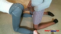 Hubby jack cock on wife's Tight Jeans
