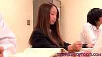 Japanese teen Anju Sana is old guys slave