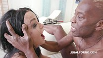 Double anal rough sex with Daphne Klyde 2on1 BBC squirting like crazy preview image