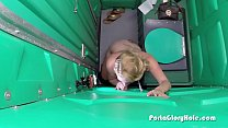 Hot thick blonde sucks cock in porta potty Preview