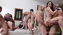 Min Galilea ,Lia Ponce and Yenifer CHP assfucked together in hot 6on3 Orgy YE110