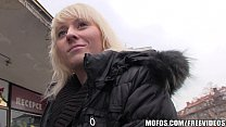 Natural blonde with a bubble butt is picked up for a public fuck thumbnail