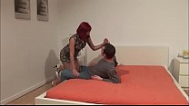 Nasty redhead mom took a stepsons dick and fuck