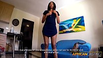 6695 Skinny Black Girl On Her Knees for Big White Cock preview