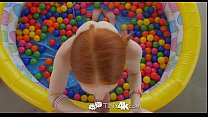 Tiny4K - Tiny redhead Dolly Little has her dripping wet fire crotch fucked صورة