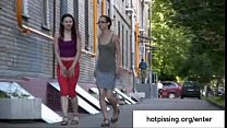 Two amateur girls from hotpissing.org peeing in public thumbnail