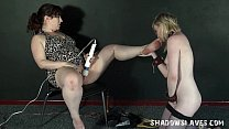 11338 Blonde Satine Spark in bizarre lesbian humiliation and cruel submission preview