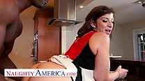 Naughty America Sara Jay enjoys her chocolate c...