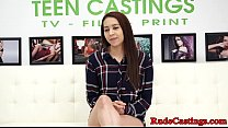 Casting teen bound and roughly screwed