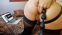 Goth Goddess Stuffs Her Asshole With Anal Beads