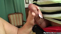 Busty girlfriends mother sucks and rides his cock Preview