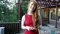 PropertySex - Hot redhead real estate agent performs sexual favors preview image