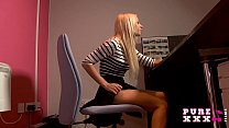 PURE XXX FILMS Banging the stunning busty secretary thumbnail