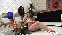 Czech lesbian babes have fun drinking piss and licking pussy