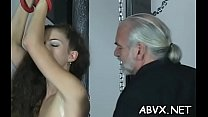 Teen obedient in bizarre bondage xxx porn act
