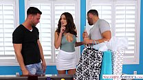 LANA RHOADES THREESOME - CHEATS & FUCKS 2 GUYS video