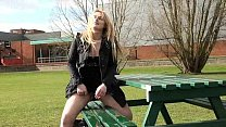 Amateur college babes public masturbation and pussy flashing outside campus Preview