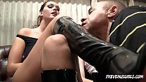 JESSI PALMER And ALLISON TYLER - BOOT & FEET SLAVE HUMILIATION
