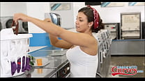 Big Booty Teen Pornstar Doing Laundry Gets Fucked