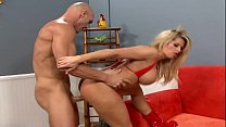 Big Tits MILF Blonde Rides The Big Fat White Co