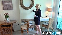 PropertySex - Blonde Southern MILF real estate agent gets creampie thumbnail