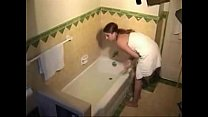 Stepsister masturbating in the bath - More on a...