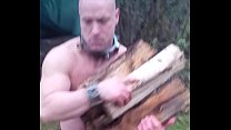 Muscle slave Stacking Wood pornhub video
