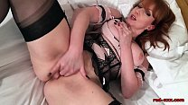Red uses multiple toys on her wet pussy