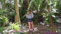 Teen stepdaughter outside video