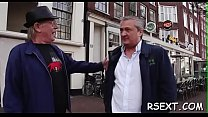 Horny old stud takes a tour in amsterdam's redlight district Thumbnail