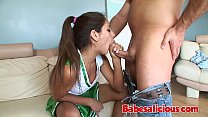 Babesalicious - Busty Teen Super Cheerleader Riding a Dick's Thumb