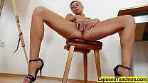 Blond Cougar riding a plastic cock » xxnx vodeo thumbnail