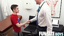 FunSizeBoys - Tiny twink seduced by kingsize doctor during medical exam