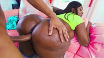 Black Milf With A Huge Ass Gets Fucked By A Bla