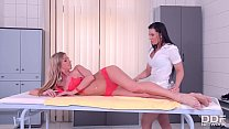 Stunning Glamour Lesbians Oil Massage with inte...