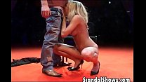Horny blonde striper takes it deep