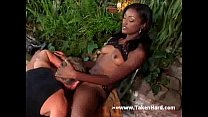 Sexy black babe sucks wet and gets cunted