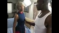 Skinny Black Babe Gets Anal Fucked